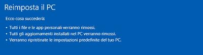 ripristino Windows 8 e 8.1 - Come fare il ripristino di Windows 8