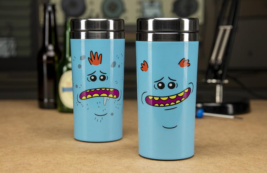 4 mug da viaggio mr miguardi - I gadget di Rick and Morty da regalare ai fan
